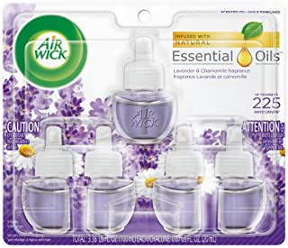 Air Wick plug in Scented Oil 5 Refills, Lavender & Chamomile, (5×0.67oz),..