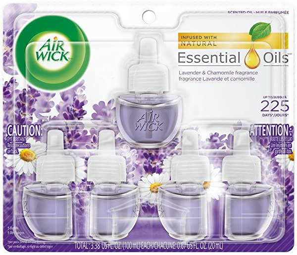 Air Wick Plug In Scented Oil 5 Refills Lavender Chamomile 5x0 67oz Essential Oils Air Freshener