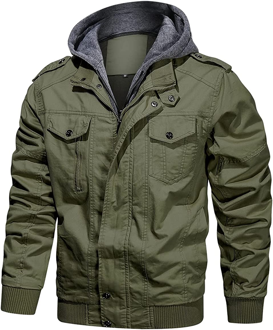 NAVEKULL Special sale item Men's Cotton Military Jacket Ja Lightweight Bargain Casual Army