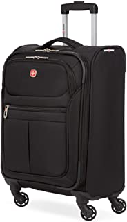SwissGear 4010 Softside Luggage with Spinner Wheels, Black, Carry-On 18-Inch