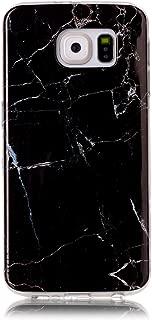 Samsung Galaxy S6 edge Case, Iessvi Marble Printing TPU Silicone Soft Cover