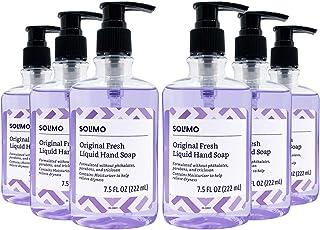 Amazon Brand - Solimo Original Fresh Liquid Hand Soap, 7.5 Fluid Ounce, Pack of 6