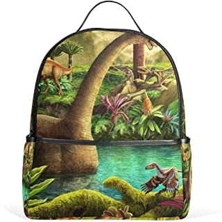 Backpack Dinosaur Lake Womens Laptop Backpacks Hiking Bag Travel Daypack