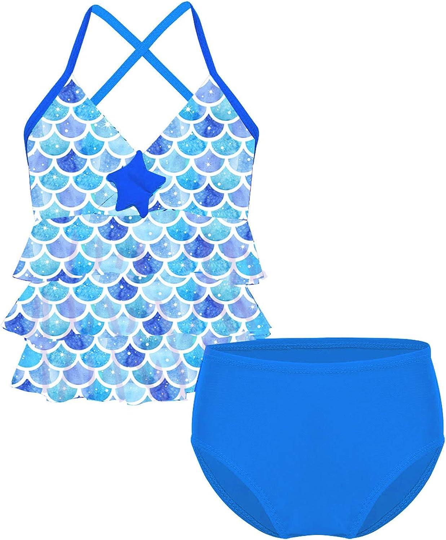 IEFIEL D/éguisement Sir/ène Enfant Filles Maillots De Bain Bikini Tankini Mermaid Swimsuit Tops de Maillots avec Bottoms 2 pi/èces 3-14 Ans