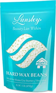 Hard Wax Beans Hair Removal Painless Lansley for Full Body Brazilian Bikini Face Legs Eyebrow at Home Waxing Beads Large Refill for Women Men
