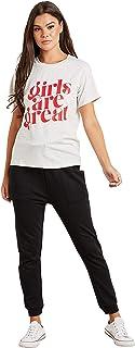 Girls Are Great Regular Slogan T-Shirt For Women's Closet by Styli