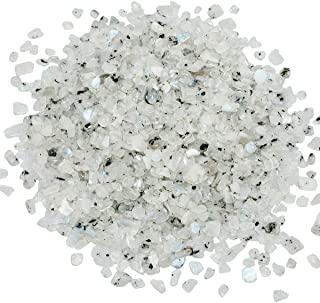 SUNYIK Moonstone Tumbled Chips Crystal Crushed Pieces Irregular Shaped 1pound(About 460 Gram)