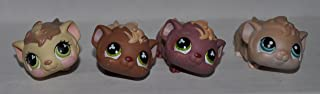 Guinea Pig (Lot of Four (4) Different) Littlest Pet Shop (Retired) Collector Toy - LPS Collectible Replacement Single Figure - Loose (OOP Out of Package & Print)