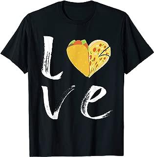 I Love Tacos and Pizza Heart Tshirt Cute Taco Pizza T Shirt T-Shirt