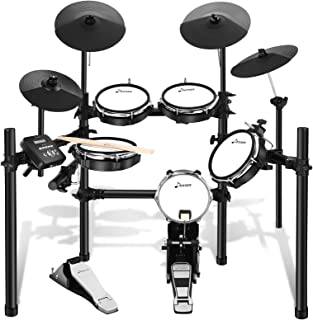 Sponsored Ad - Donner DED-200 Electric Drum Set Kit Electronic with 5 Drums 4 Cymble, Electric Drum, Audio Line, Drum Stick