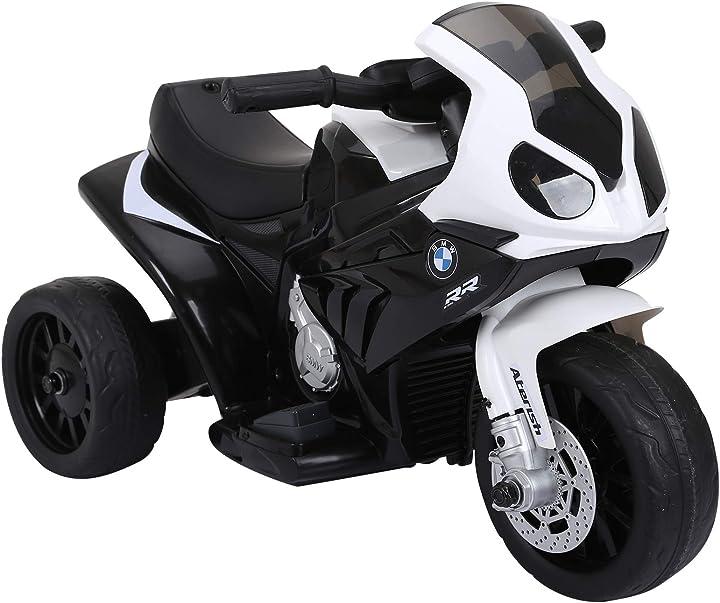 Moto elettrica per bambini max. 20kg con licenza bmw, 3 ruote, batteria ricaricabile 6v 66x37x44cm IT370-064BK0631