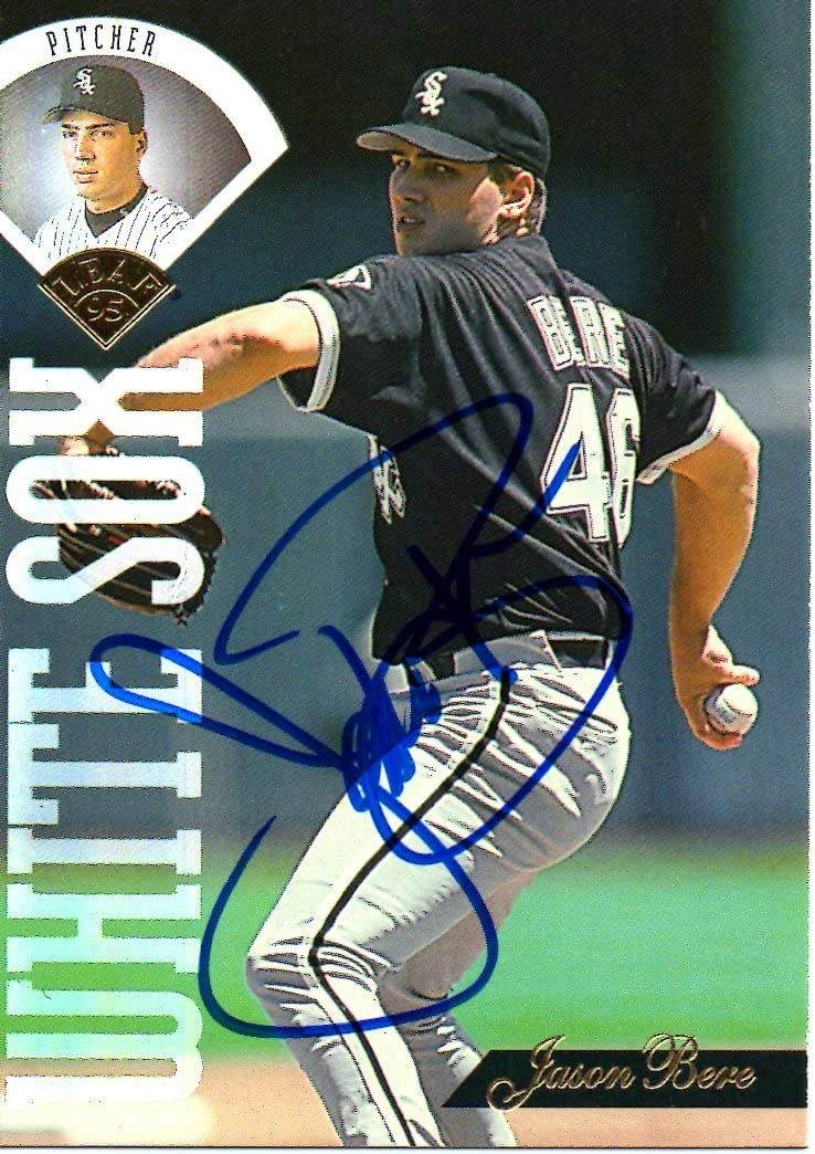 Jason Outlet ☆ free shipping Free Shipping Bere Chicago White Sox 1995 Signed Leaf Card