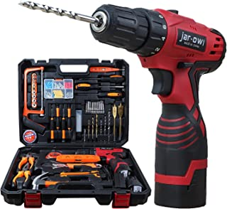 108-Piece Home Tool Kit with 16.8V Cordless Drill, General Household Toolkit Set with DIY Hand Tools Set for Daily Repair ...