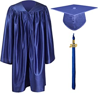 Shiny Kindergarten & Preschool Graduation Gown Cap Set with 2019 Tassel