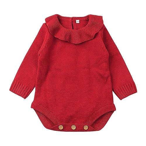 52dfcd2ecdf XARAZA Newborn Baby Girls Princess Knitted Sweater Romper Jumpsuit Ruffle  Long Sleeve Winter Clothes