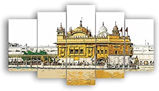Alura Art N Frames Set Of 5' Beautiful Golden Temple in Amritsar UV Textured Painting for Decorations& Gift Item ( 17 Inc...