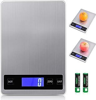 Viugreum Balance Cuisine , Balance de Precision Electronique - Balance Cuisine 15kg/1g, Acier Inoxydable Tactile Sensible ...