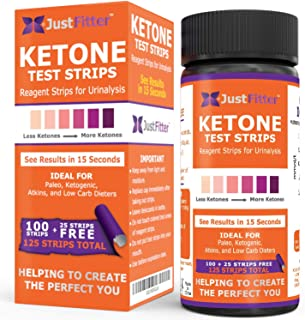 Just Fitter Ketone Test Strips. Lose Weight, Look & Feel Fabulous on a Low Carb Ketogenic or HCG Diet. Get Your Body Back!...