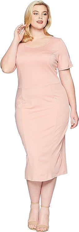 Unique Vintage Plus Size Mod Wiggle Dress