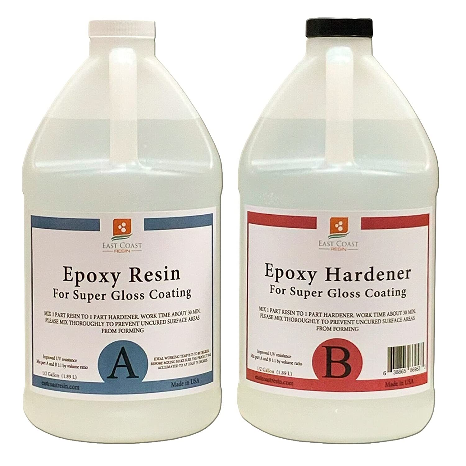 2 Pcs of EPOXY Resin 1 Super Gloss Max 65% OFF price kit Coating for Gal