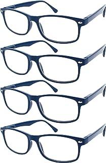 8396c8bd4a TBOC Gafas de Lectura Presbicia Vista Cansada - (Pack 4 Unidades) Graduadas  +3.00