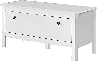 trendteam smart living 183931001 meuble à chaussures avec espace de rangement, Blanc, 91 x 45 x 112 cm