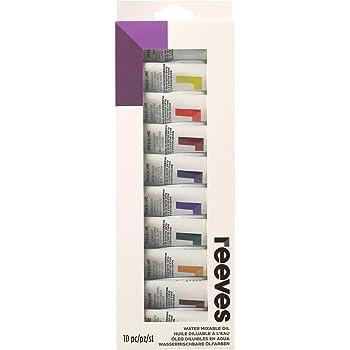 Reeves – Pintura al óleo diluible en Agua (Pintura, Multicolor, 22 ml, Pack de 10: Amazon.es: Hogar