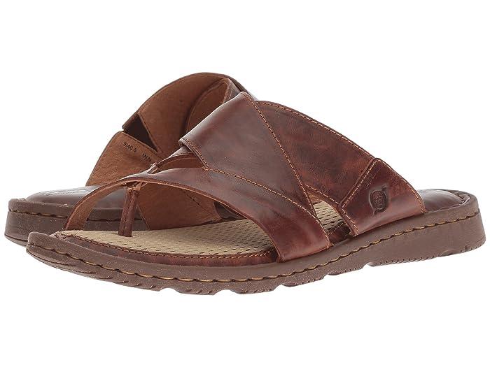 Vintage Sandals | Wedges, Espadrilles – 30s, 40s, 50s, 60s, 70s Born Sorja II Brown Full Grain Leather Womens Sandals $84.95 AT vintagedancer.com