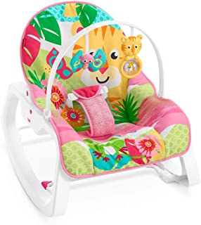 Fisher-Price - Hamaca Crece Conmigo Rock and Roar, Silla para Bebé (Mattel GNV70)
