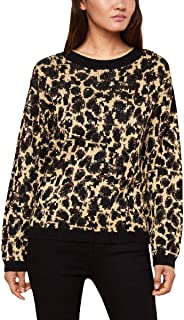 Juicy Couture Women's Metallic Leopard Print Pullover Sweater