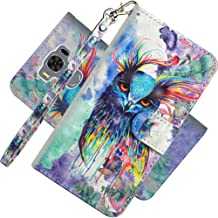 EMAXELER ASUS ZenFone 3 Max Case Cover 3D Full Stylish Case Protect Kickstand Flip Credit Pockets PU Leather Flip Wallet with Stand for ASUS ZenFone 3 Max ZC553KL YX 3D: Colored Owl