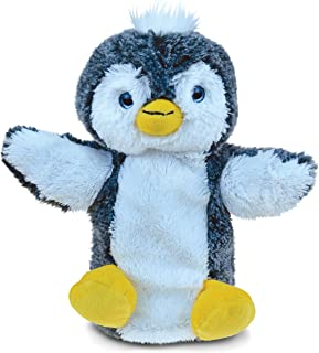 Puzzled Penguin Super-Soft Stuffed Plush Puppet Cuddly Animal Toy - Animals/Birds/Ocean Theme - 9 INCH - Unique huggable l...