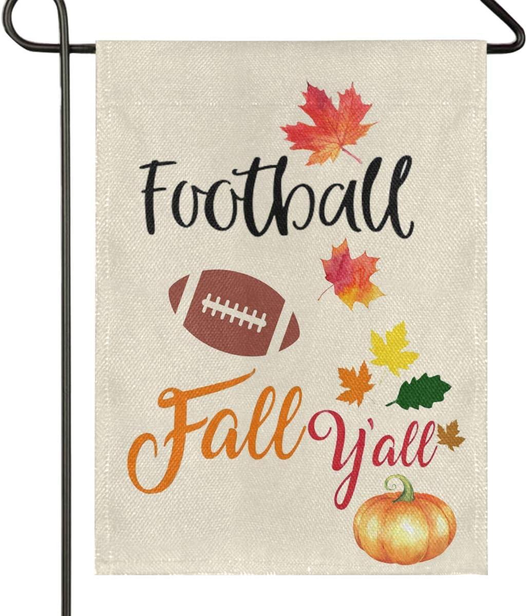 Wamika Football San Jose Mall and Fall Y'all Pumpkin Double Burla Autumn Max 53% OFF Sided