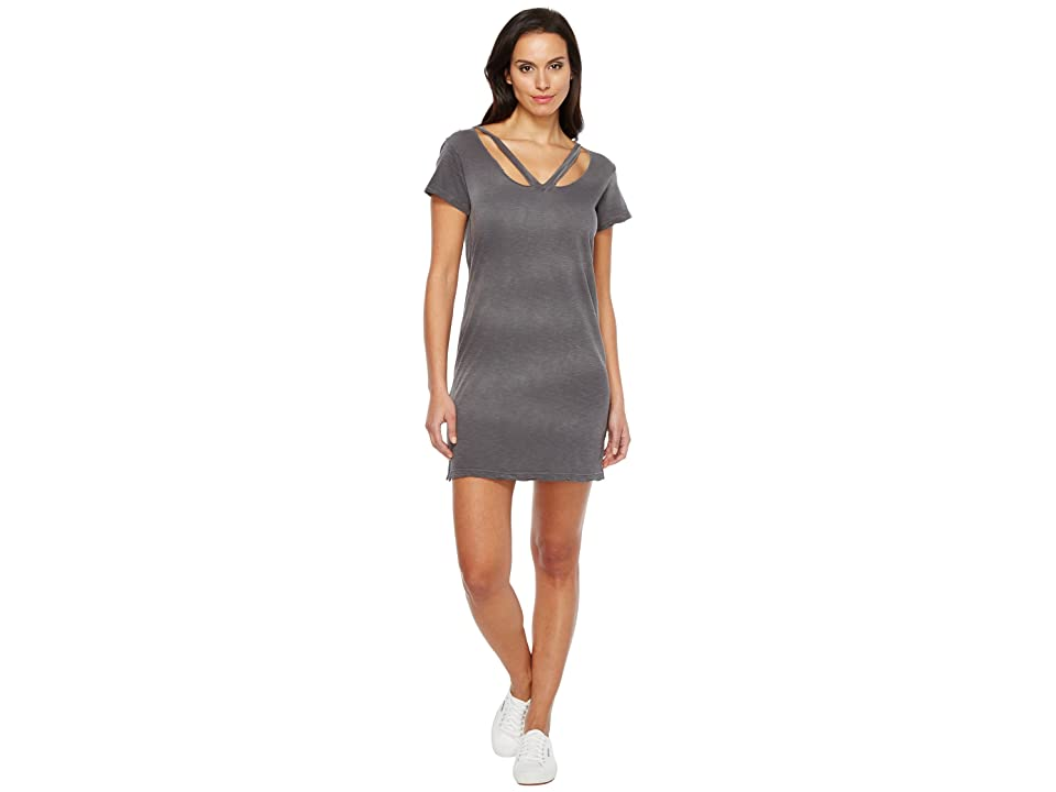 LNA Double Fallon Tee Dress (Charcoal Potassium) Women