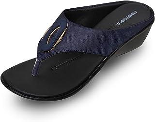 Footsoul Women's Martina Flats (Blue) (FSL-352)