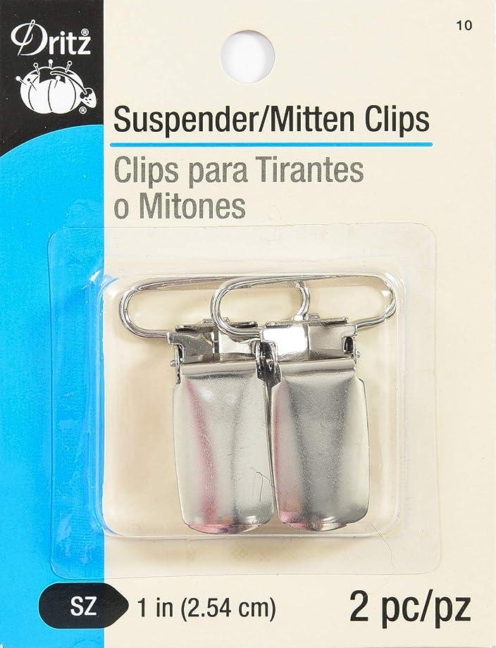 Dritz 10 Suspender & Mitten Clips, 1-Inch, Nickel, 2 Count