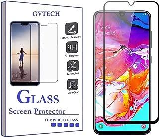 واقي شاشة GVTECH لهاتف Samsung A30، غطاء كامل من الزجاج المقوى [2.5D حافة دائرية][صلابة 9H][كريستال شفاف][مقاوم للخدش] لهاتف Samsung Galaxy A30 (أسود)