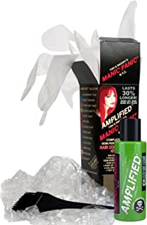Manic Panic Green Electric Lizard Amplified Hair Coloring Kit, Vegan Semi-Permanent Green Hair Dye Cream, 3X Pigments & Lasts 30% Longer Than Classic Voltage (6-8 Weeks), Ammonia-free, Ready to Use