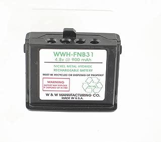 4.8 v @ 900 mAh NiMH FNB31 Battery for YAESU Radio Models FT-11, FT-11R, FT-41, FT-41R, FT-51, FT-51R, Replaces Battery Models FNB31, FNB33, FNB33S, FNB35, FNB35S, FNB35N, FNB38,