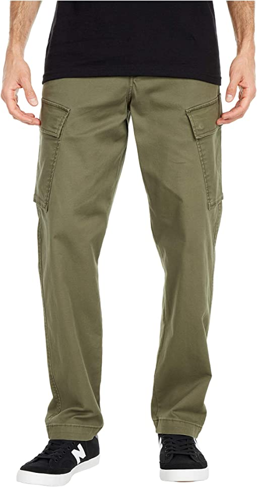 Olive Night Stretch Twill