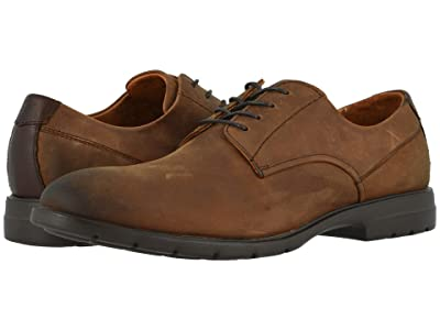 Florsheim Westside Plain Toe Oxford (Brown Crazy Horse) Men
