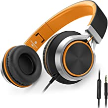 AILIHEN C8 Wired Folding Headphones with Microphone and Volume Control for Cellphones..