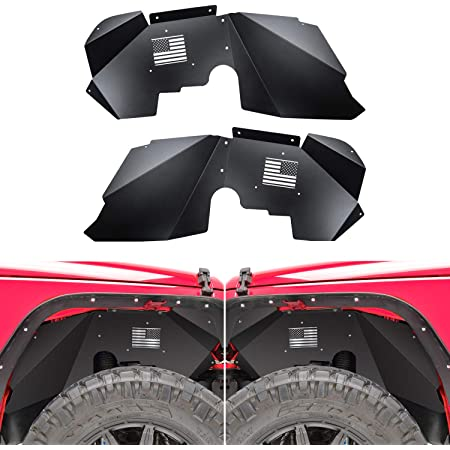 Topsair Front Inner Fender Liners Kit Compatible with Jeep Wrangler JK /& Unlimited 2007-2018 2//4 Doors