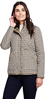 ladies quilted jacket with corduroy collar