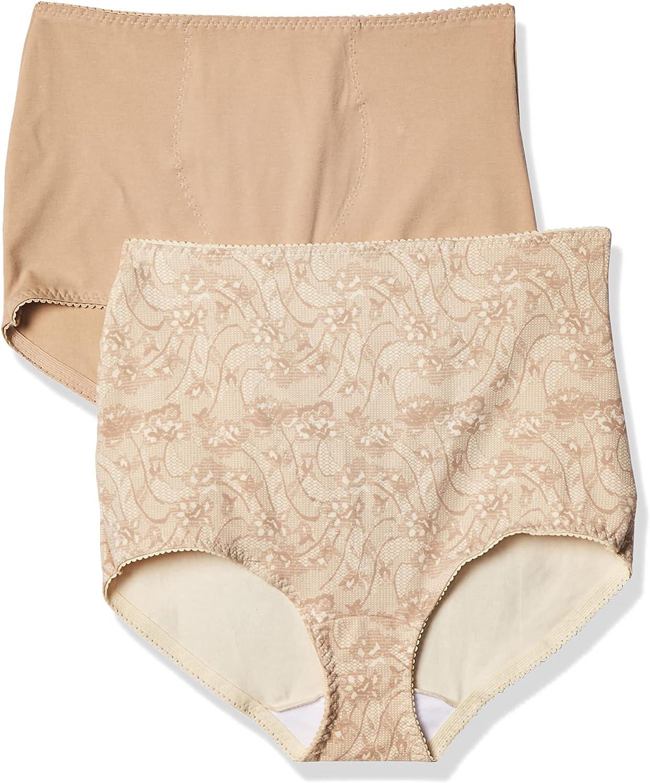 Bali Women's Cotton Light Control Shapewear Brief Fajas 2-Pack DFX037