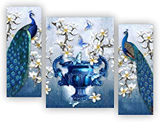 Alura Art N Frames Set of 3 Modern Art MDF Frame Painting for Living Room Wall Painting for Home Decoration (12 X 4.5 inc...