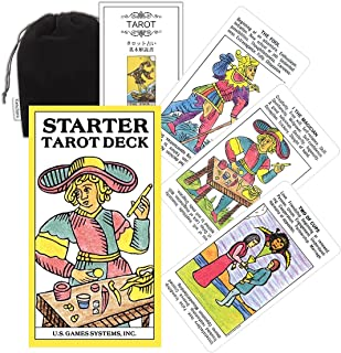 Kancharo タロットカード 78 枚 タロット占い【スターター タロット Starter Tarot Deck】日本語説明書&ポーチ付き(正規品)