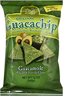 El Sabroso Guacachip, Guacamole Flavored Tortilla Chips, 12-Ounce Package