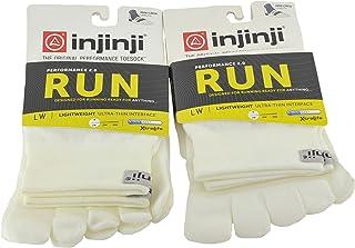 Injinji Unisex Run Lightweight Mini Crew Toesocks Bundle (2 Pack)