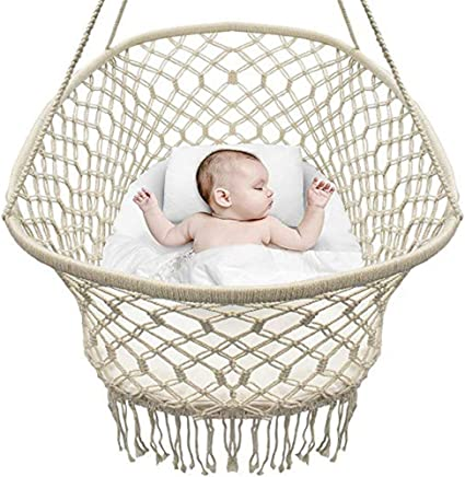 BABYDXY Baby Cradle  Hanging Crib And Portable Swing  White Hanging Baby Crib Hammock For Bed